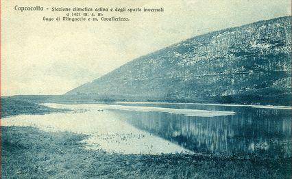 Il lago di Mingaccio in un'altra foto storica