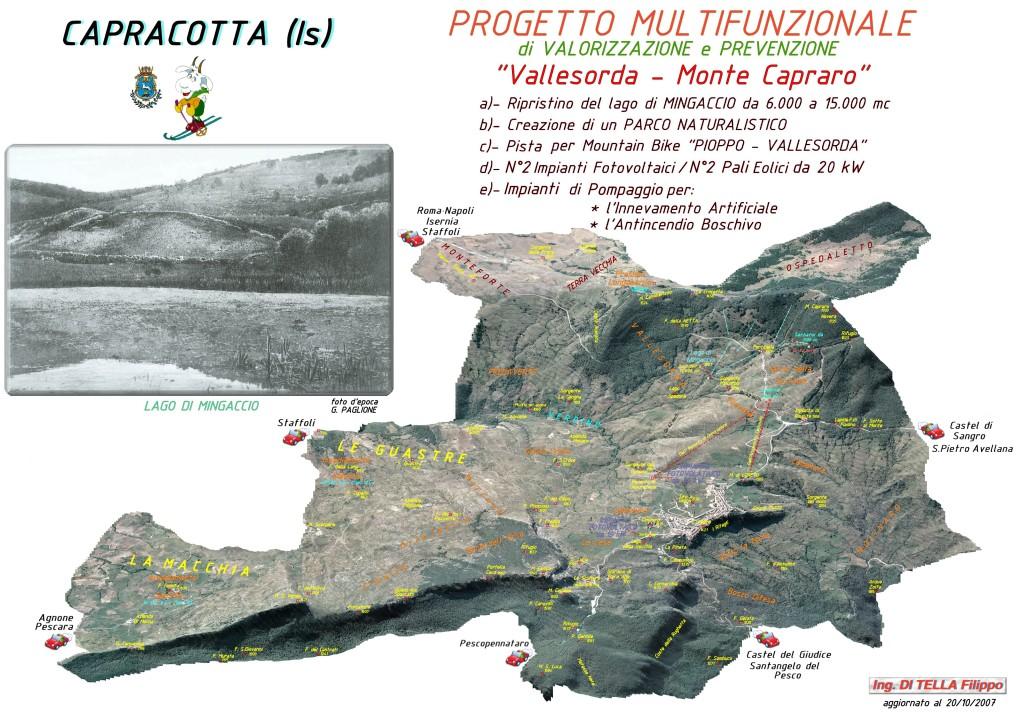 Progetto multifunzionale di valorizzazione e prevenzione Vallesorda- Monte Capraro