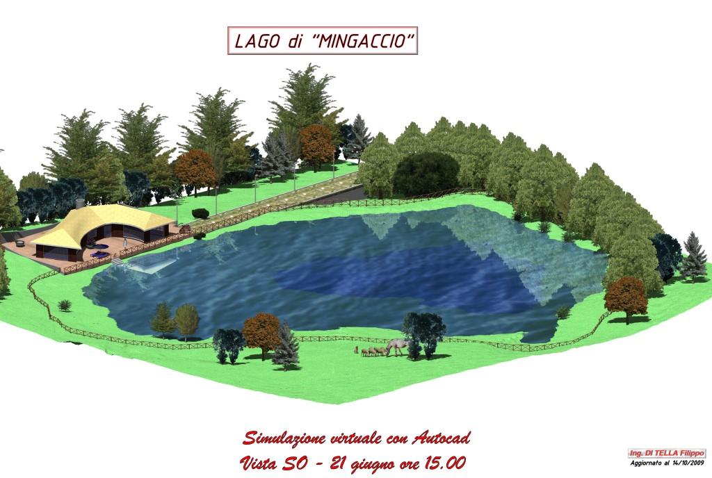 Simulazione virtuale del lago di Mingaccio