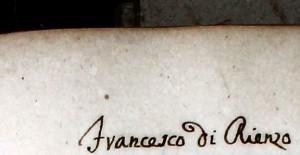 Il nome di Francesco Di Rienzo nel censimento fiscale del 1743