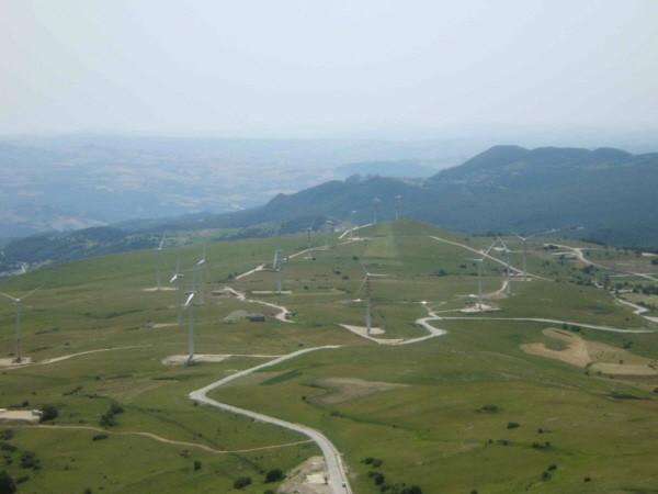 Il parco eolico di Monteforte