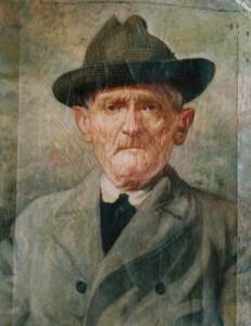 Ritratto di Vincenzo di Rienzo, padre di Carmine, olio su tela