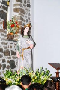 La statua di santa Lucia