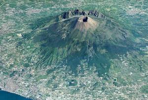 Il Vesuvio nella pianura campana
