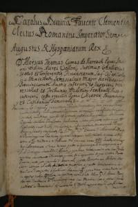 Certificato di registrazion della vendita di Vicennepiane in favore di Domenicantonio d'Alena del 1733