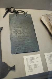La Tavola Osca esposta al British Museum di Londra