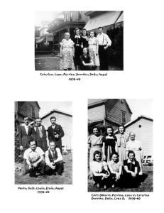 La famiglia DiNucci, anni 1939-40