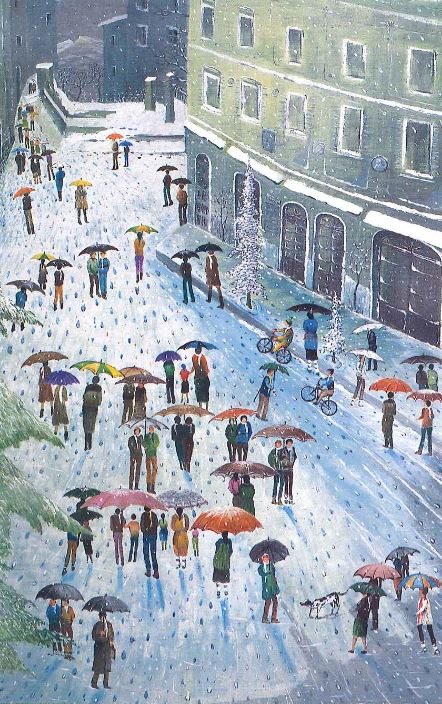 Inverno a Capracotta, olio su legno, 1994