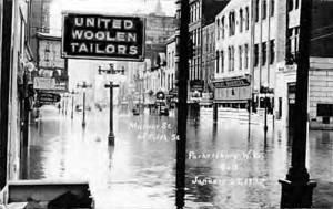 United Woolen Tailors Company, Flood of 1937 in Parkersburg, WV
