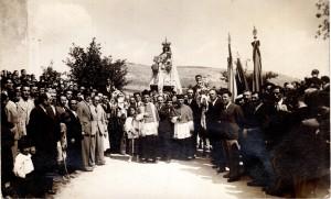 Don Matteo Brunetti ali festeggiamenti della Madonna di Loreto del 1932