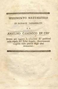 Sperimento matematico del canonico Anselmo Di Ciò