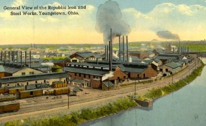 General view of the Repubblic Iron and Steel works, Youngstown, Ohio
