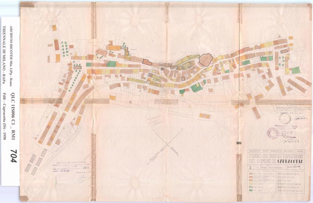 Piano di ricostruzione di Capracotta del 1950