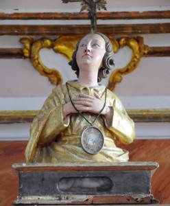 Il reliquiario di san Fabiano nella Chiesa Madre