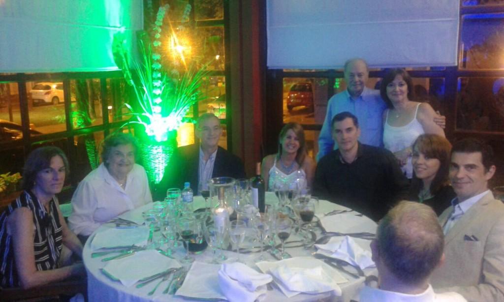 Julio Cesar Castiglione con la famiglia