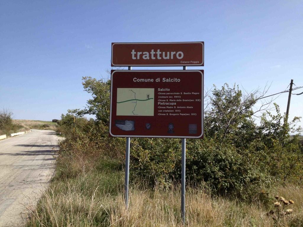Il tratturo Celano - Foggia all'altezza di Salcito (Cb)