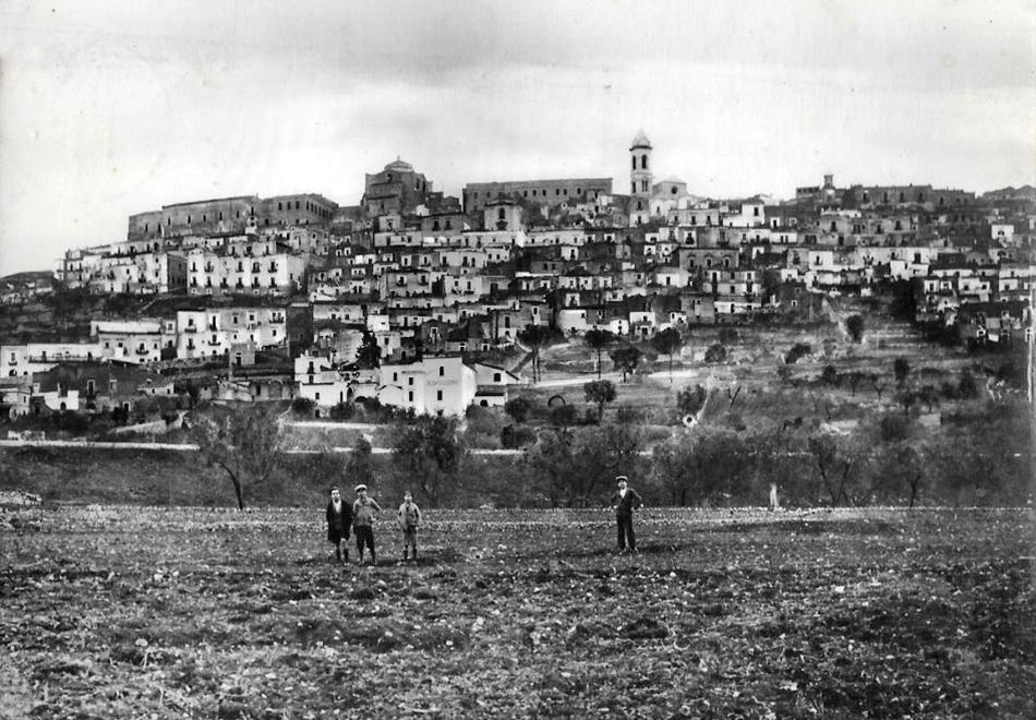 Un'immagine di Minervino Murge agli inizi del secolo scorso