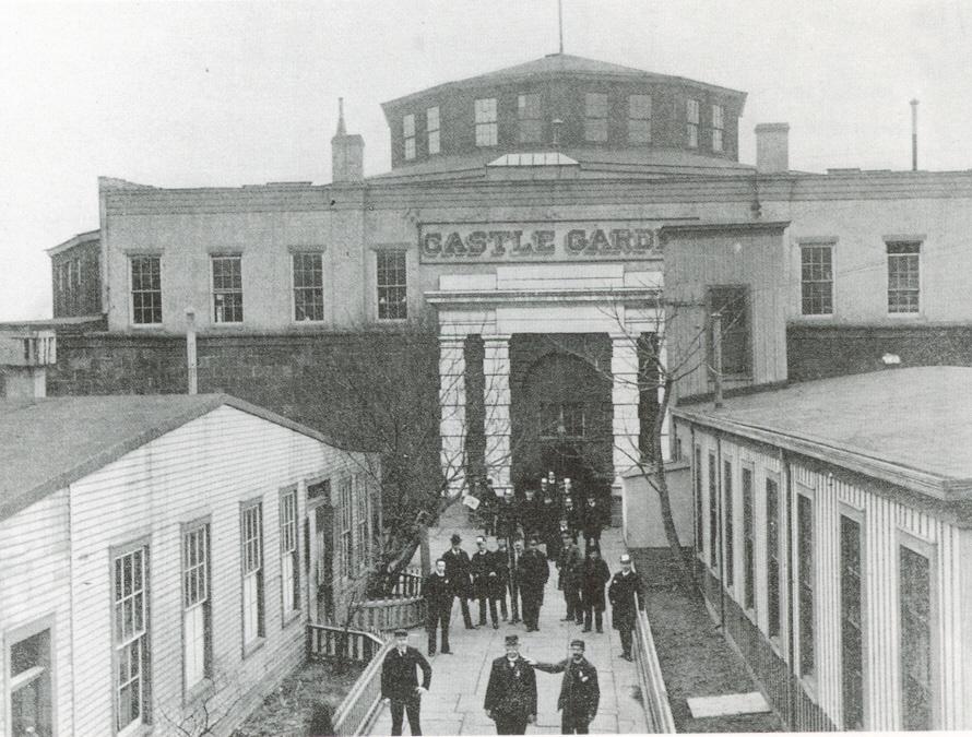 La stazione di smistamento per immigrati di Castle Garden a New York