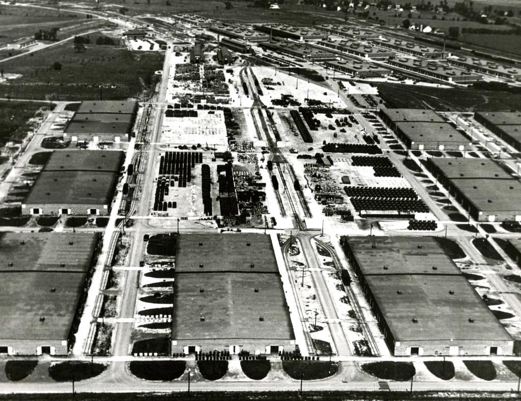 Il grande deposito di Letterkenny, vicino alla Chambersburg, durante la Seconda Guerra Mondiale