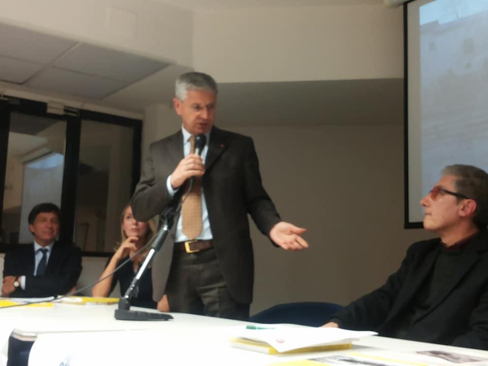 L'intervento del consigliere regionale Michele Pietraroia