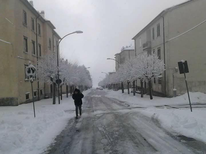 Via Santa Maria di Loreto stamattina. Foto: Paolo Conti
