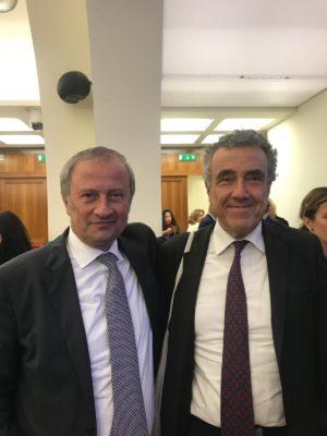 Candido Paglione con Fabrizio Barca