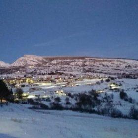 Panorama di Capracotta nella prima sera del nuovo anno. Foto: Fabio Monaco